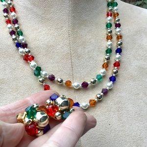 🌺Vintage Necklace/Earring Set